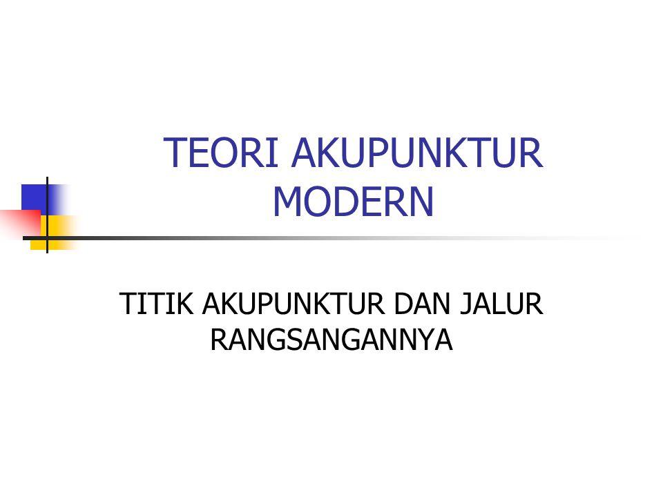 TEORI AKUPUNKTUR MODERN TITIK AKUPUNKTUR DAN JALUR RANGSANGANNYA
