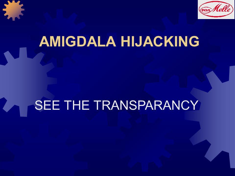 AMIGDALA HIJACKING SEE THE TRANSPARANCY