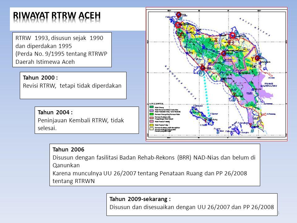 2.Pertemuan Tim BKPRN yang dipimpin oleh Setditjen Penataan Ruang Pekerjaan Umum di Jakarta tanggal 26 Mei 2011, dengan kesepakatan : a.Provinsi diharapkan mengundang seluruh kabupaten/kota melalui Ketua Tim BKPRK untuk memaduserasikan RTRWA dengan RTRW kabupaten/kota.