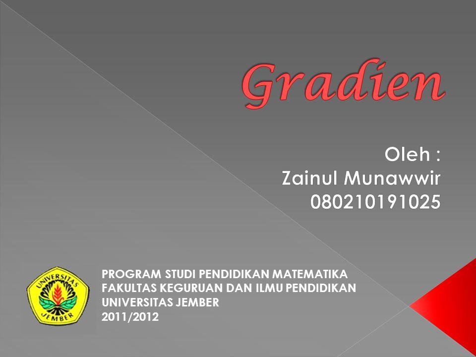 PROGRAM STUDI PENDIDIKAN MATEMATIKA FAKULTAS KEGURUAN DAN ILMU PENDIDIKAN UNIVERSITAS JEMBER 2011/2012