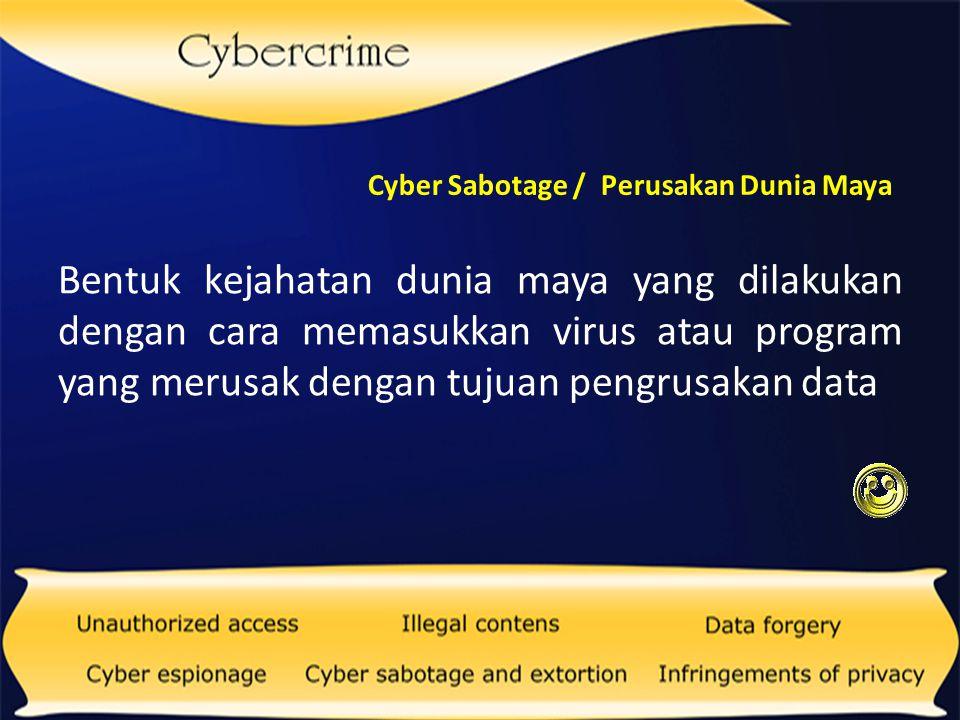 Kejahatan yang dilakukan untuk mendapatkan informasi yang bersifat rahasia Infringements Of Privacy