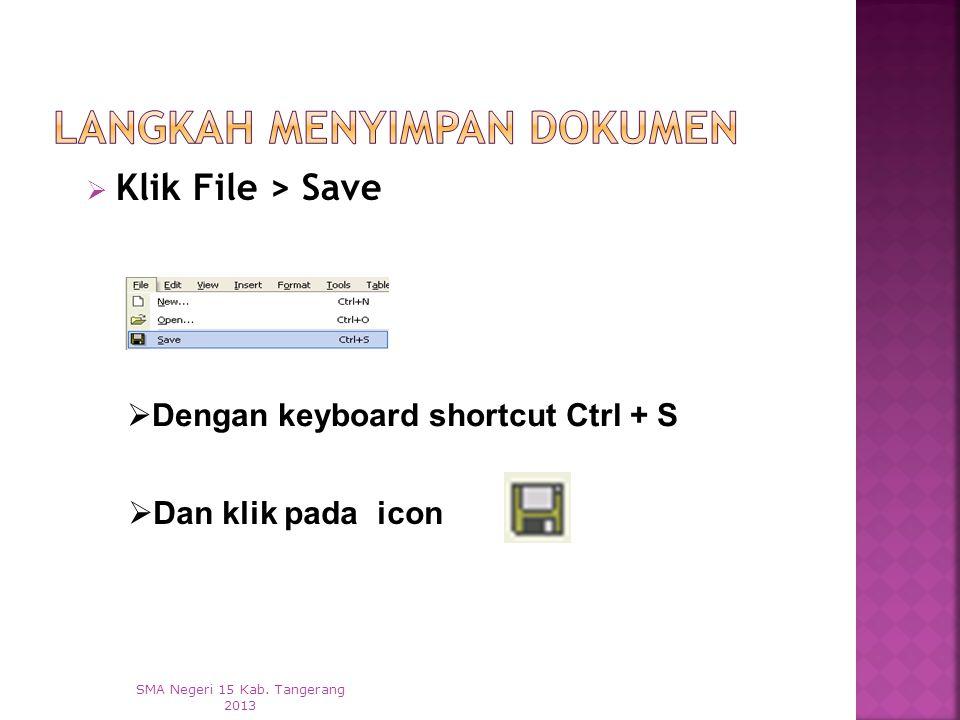 1. Klik File > New SMA Negeri 15 Kab. Tangerang 2013 2. Dengan keyboard shortcut Ctrl + N 3. Dan klik pada icon