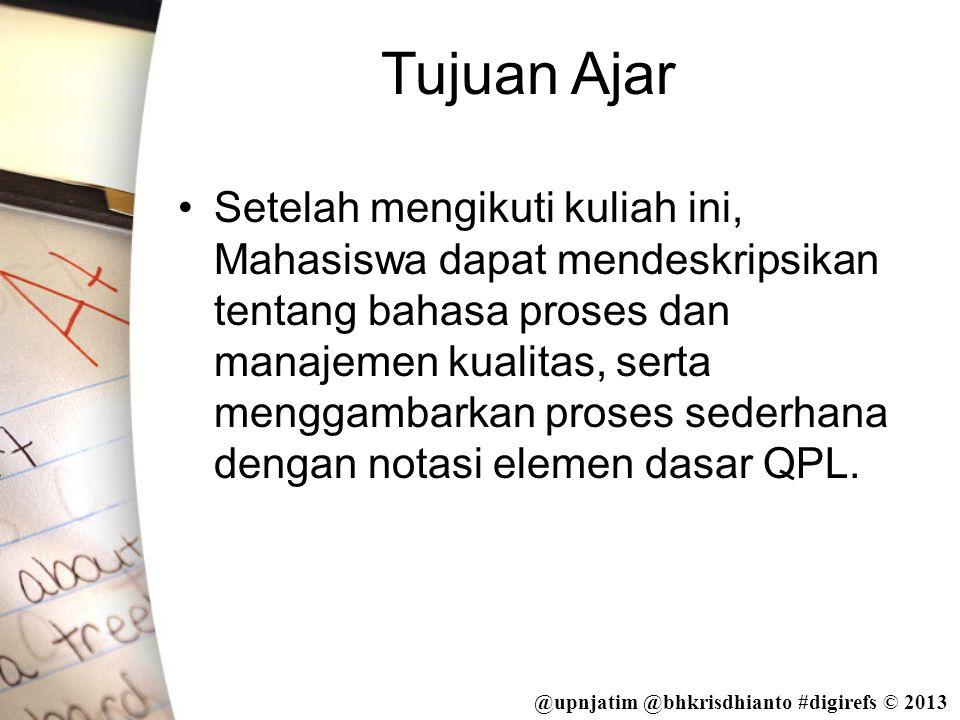@upnjatim @bhkrisdhianto #digirefs © 2013 Output yang Tidak Berubah •Output yang tidak berubah digunakan untuk mengkoordinasikan proses.