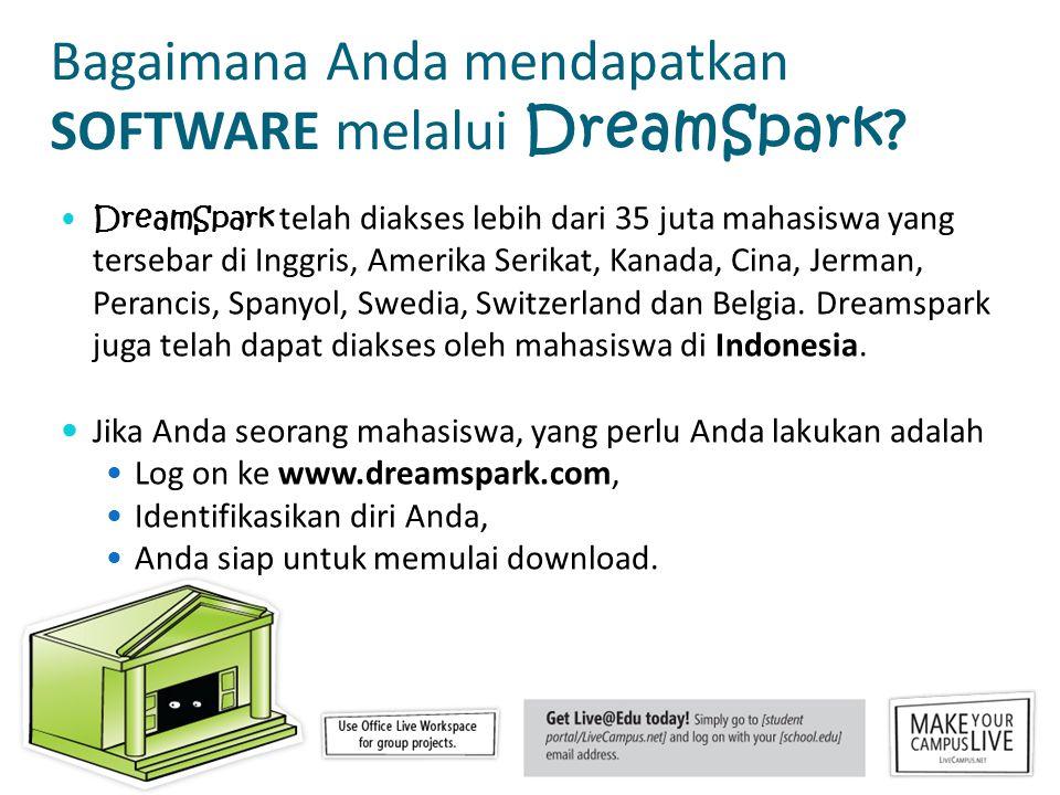 Bagaimana Anda mendapatkan SOFTWARE melalui DreamSpark.