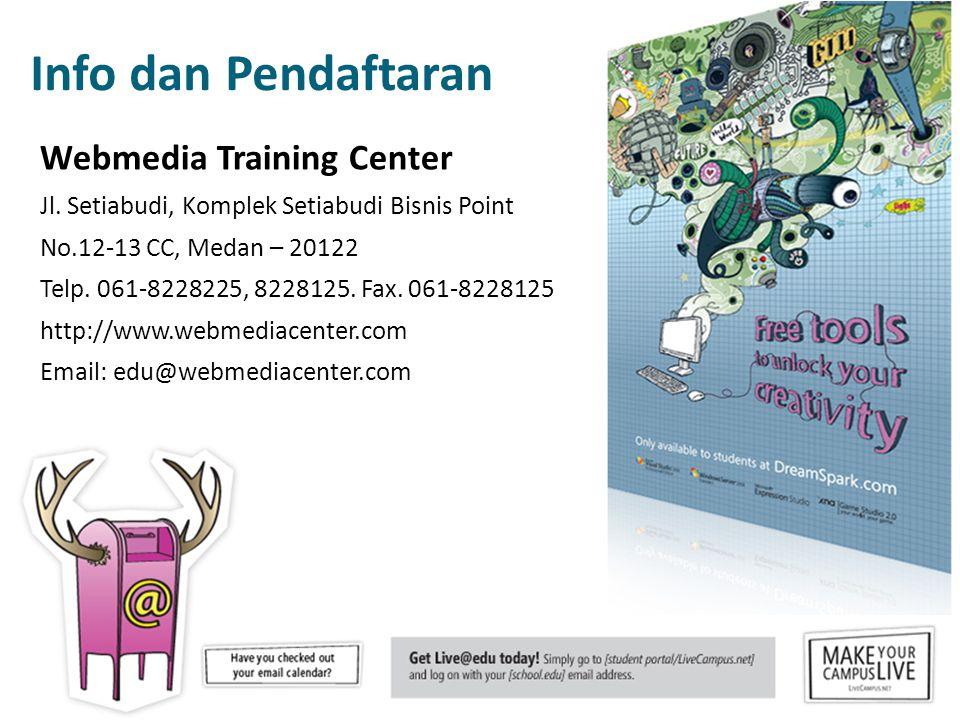 Info dan Pendaftaran Webmedia Training Center Jl.