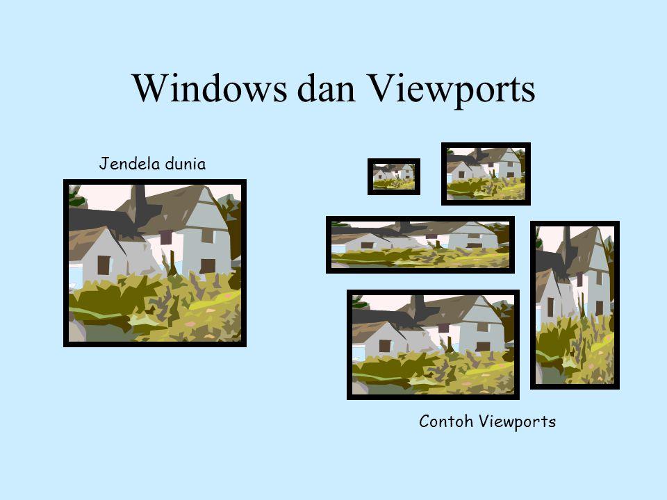 Windows dan Viewports Jendela dunia Contoh Viewports