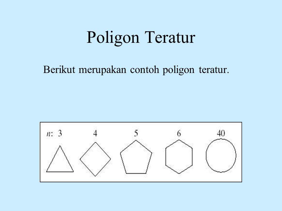 Poligon Teratur Berikut merupakan contoh poligon teratur.