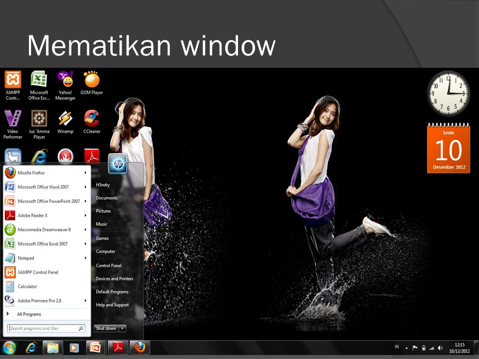 Mematikan window