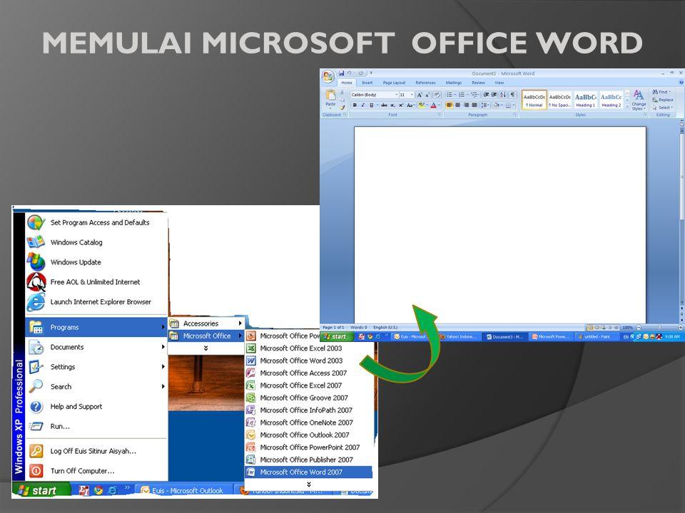MEMULAI MICROSOFT OFFICE WORD