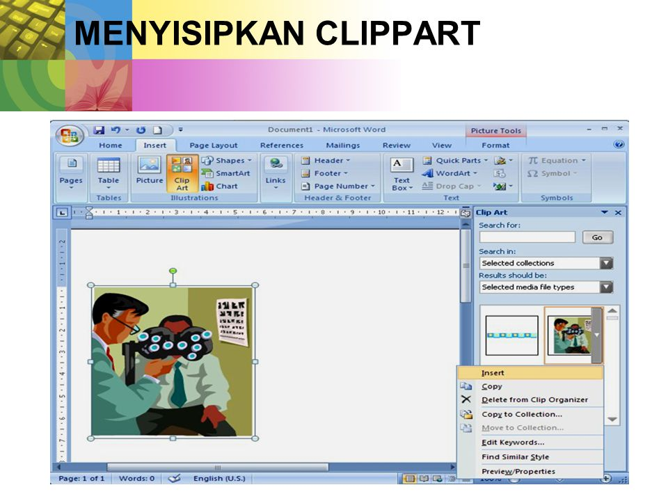 MENYISIPKAN CLIPPART