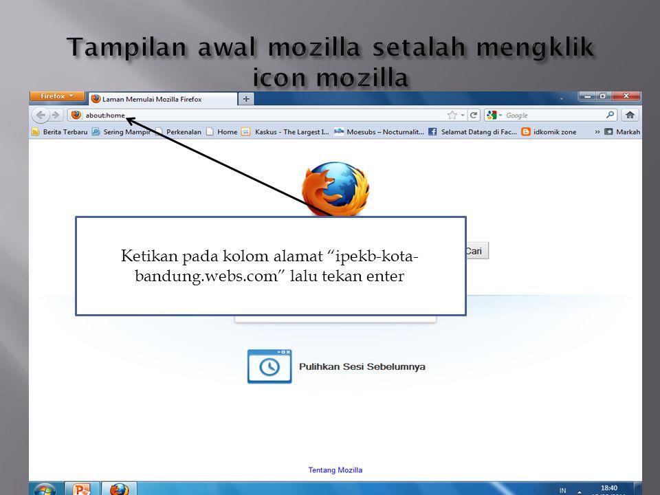 Klil register untuk membuat akun di web IPeKB
