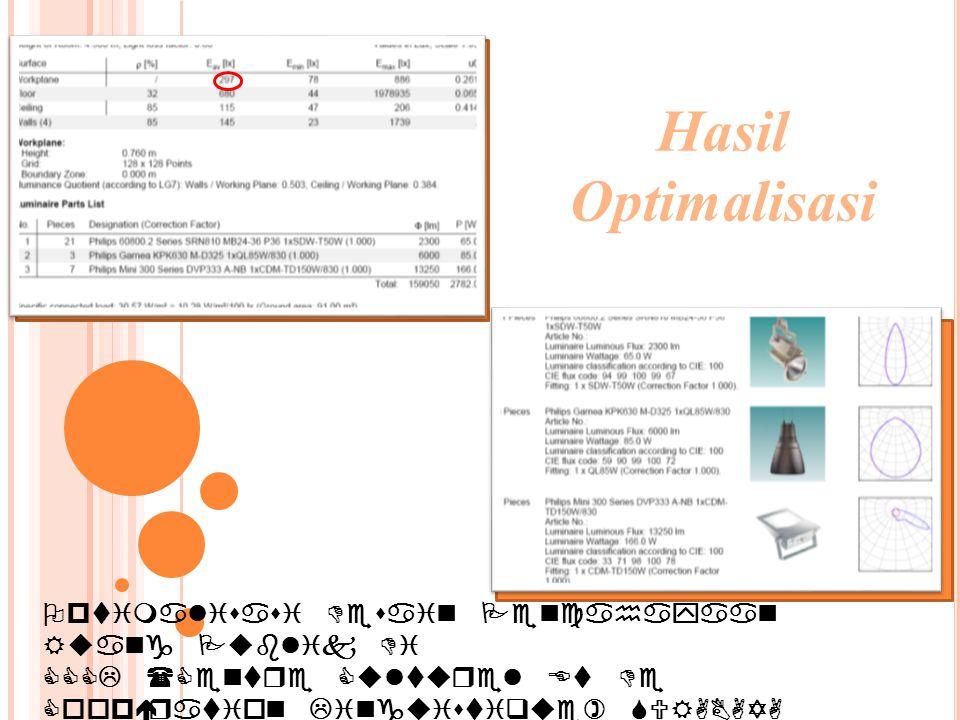 Optimalisasi Desain Pencahayaan Ruang Publik Di CCCL (Centre Culturel Et De Coopération Linguistique) SURABAYA Hasil Optimalisasi