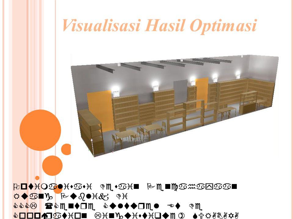 Optimalisasi Desain Pencahayaan Ruang Publik Di CCCL (Centre Culturel Et De Coopération Linguistique) SURABAYA Visualisasi Hasil Optimasi