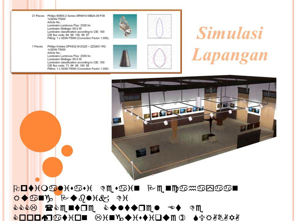 Optimalisasi Desain Pencahayaan Ruang Publik Di CCCL (Centre Culturel Et De Coopération Linguistique) SURABAYA Simulasi Lapangan