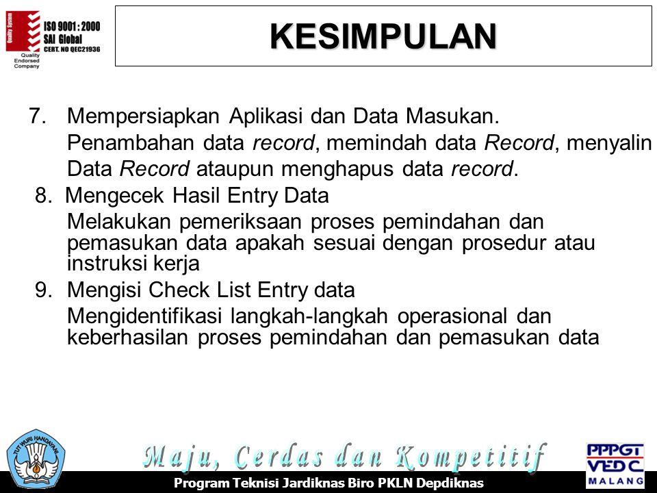 7.Mempersiapkan Aplikasi dan Data Masukan.