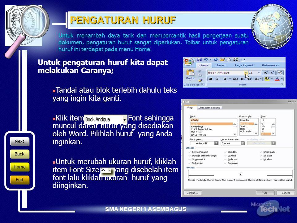 SMA NEGERI 1 ASEMBAGUS TAB LAYOUT Kotak Dialog Page Setup Layout.  Section Start, digunakan untuk menentukan di halaman mana layout yang di set dimul