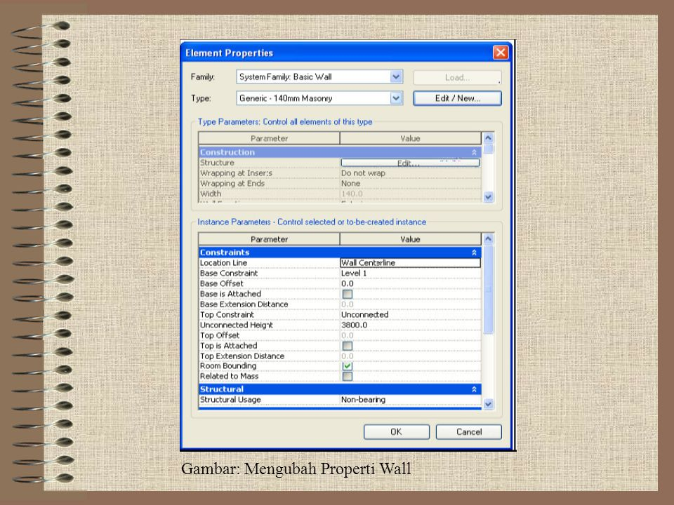 Gambar: Mengubah Properti Wall
