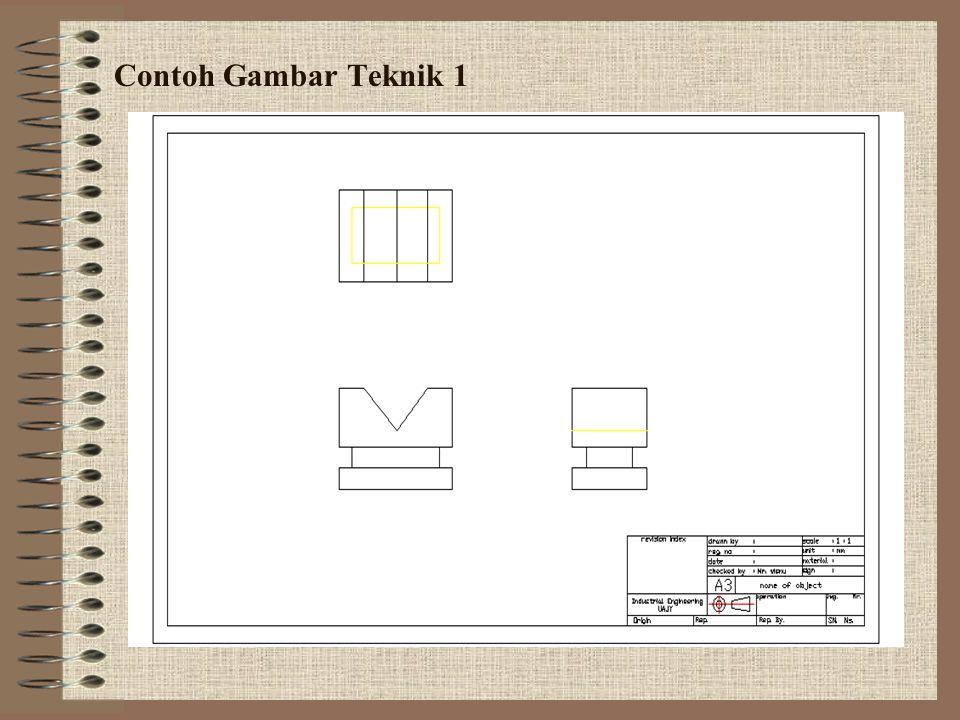 Contoh Gambar Teknik 1