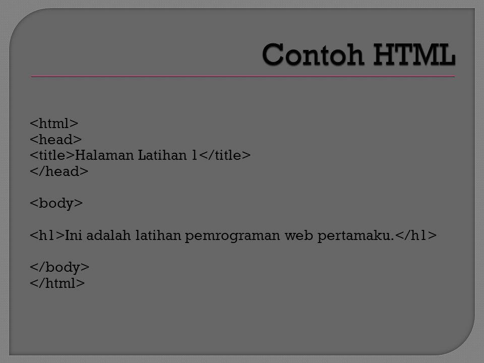 Halaman Latihan 1 Ini adalah latihan pemrograman web pertamaku.