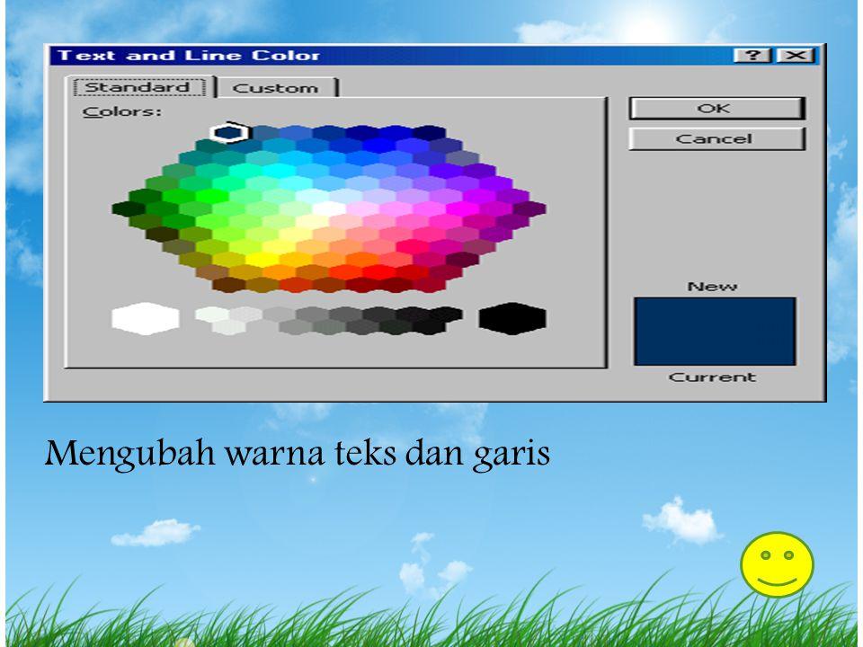 Kotak dialog warna scheme Merubah warna scheme