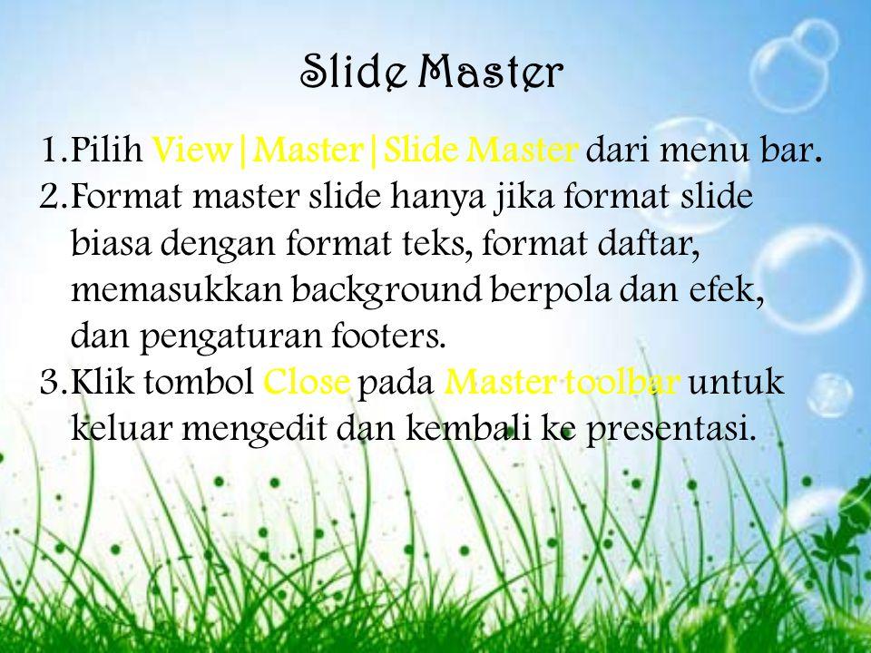 Slide transision