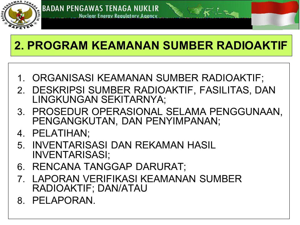 1.ORGANISASI KEAMANAN SUMBER RADIOAKTIF; 2.