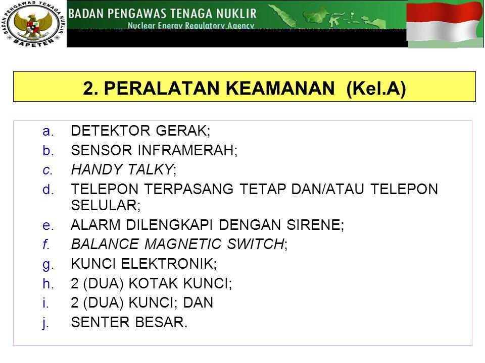 2.PERALATAN KEAMANAN (Kel.A) a. DETEKTOR GERAK; b.