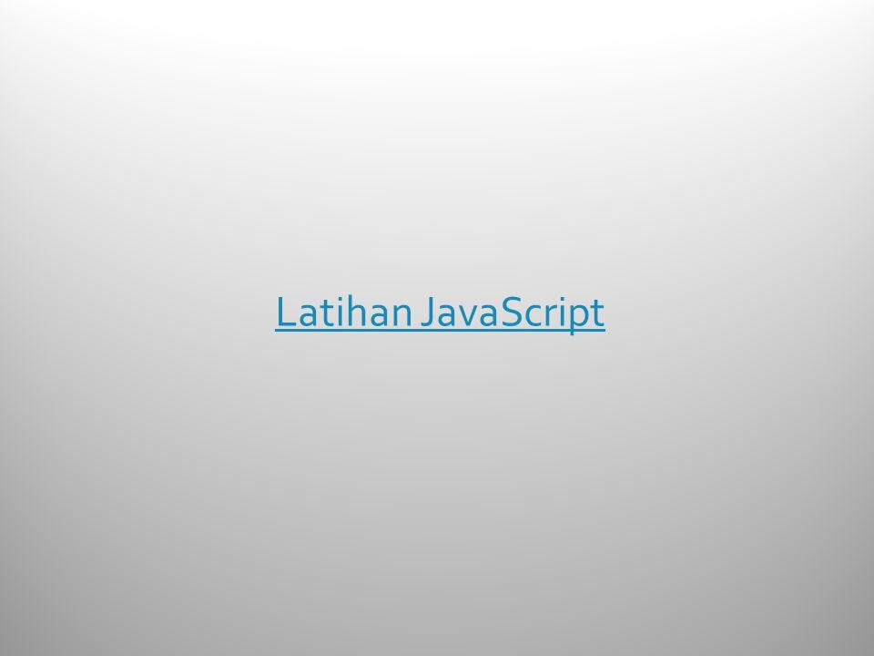 Latihan JavaScript