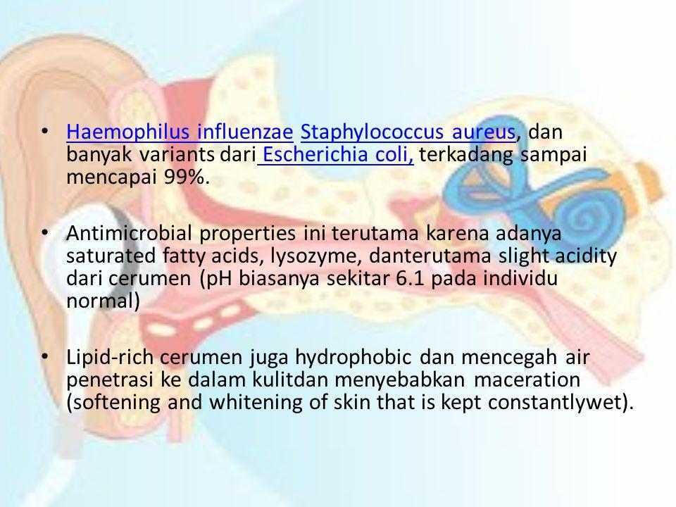 • Haemophilus influenzae Staphylococcus aureus, dan banyak variants dari Escherichia coli, terkadang sampai mencapai 99%. Haemophilus influenzaeStaphy