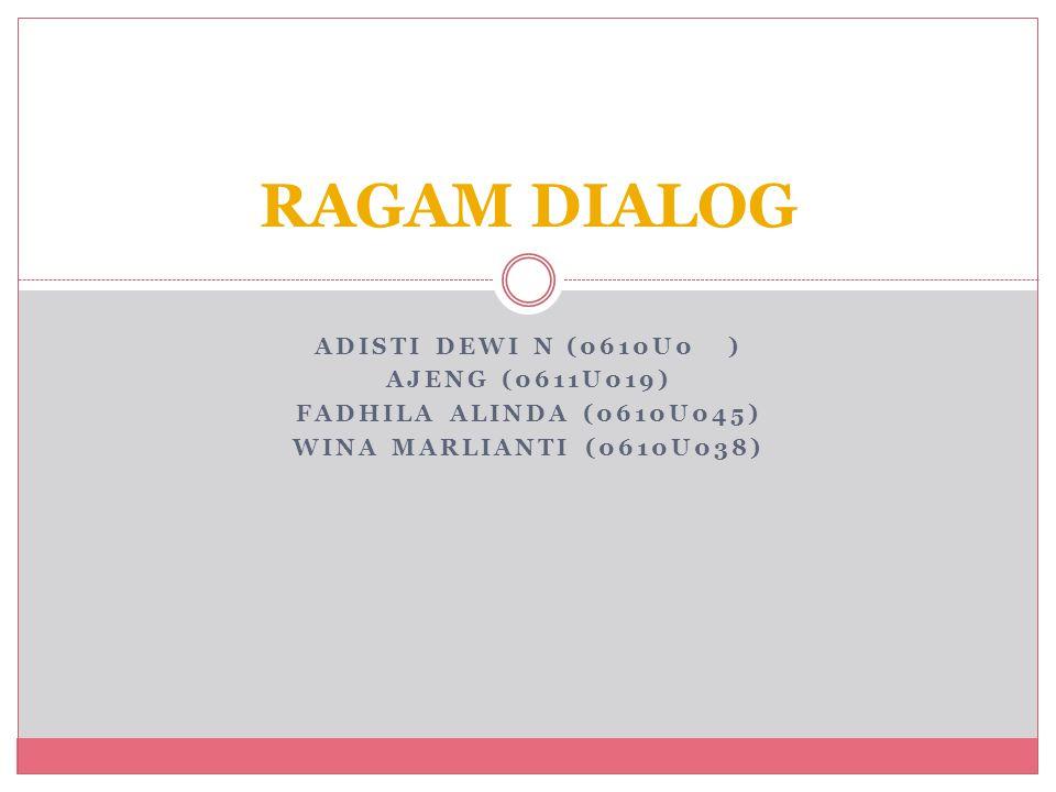 Tujuan dari bab ini adalah untuk menyajikan dan mendiskusikan berbagai teknik dialog yg ada dan untuk mengidentifikasikan beberapa kekuatan dan kelemahan dari setiap teknik dialog yang akan disajikan.