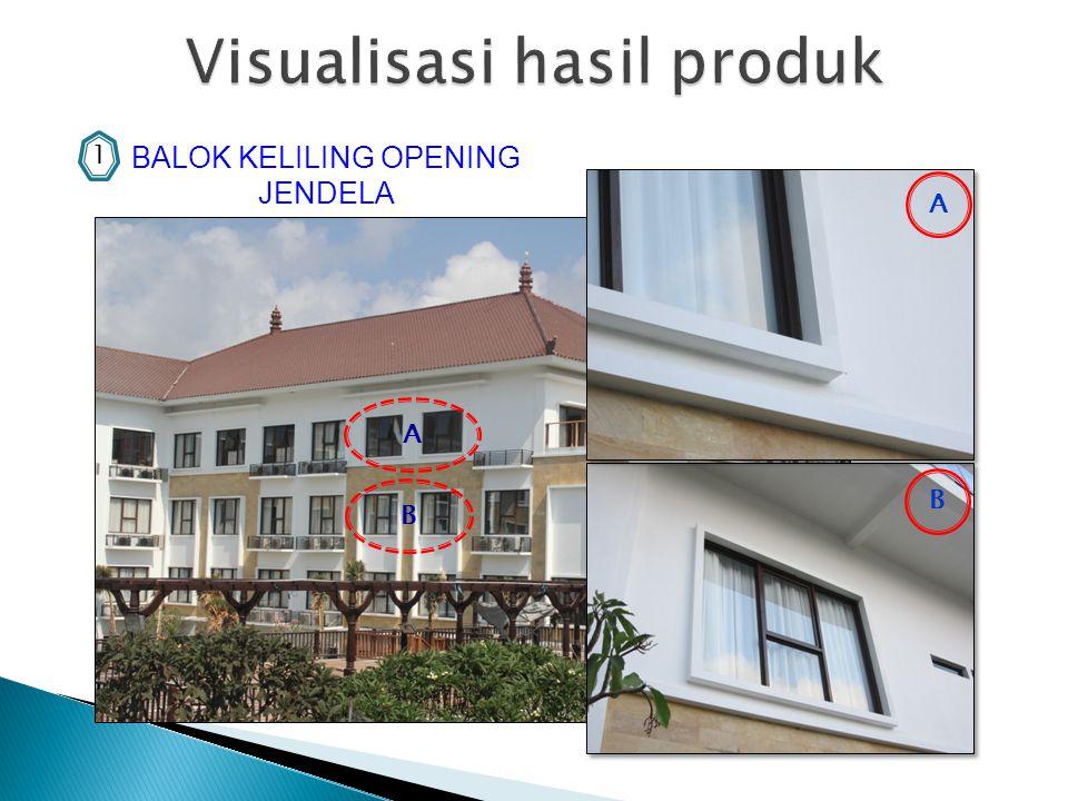 BALOK KELILING OPENING JENDELA 1 A B A B