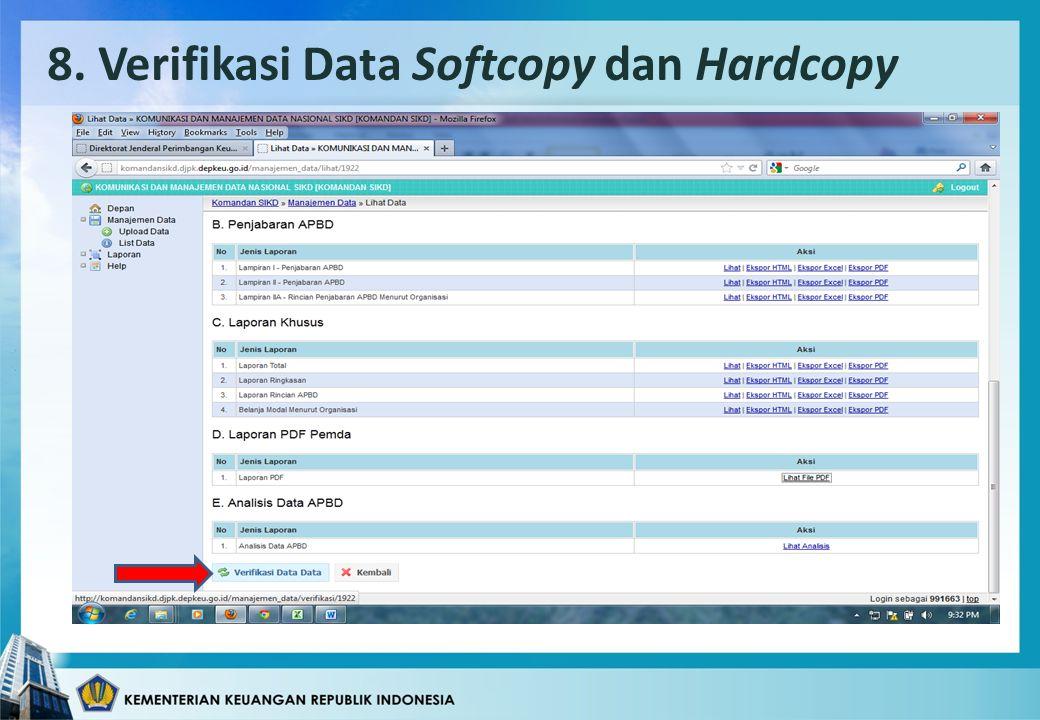 8. Verifikasi Data Softcopy dan Hardcopy