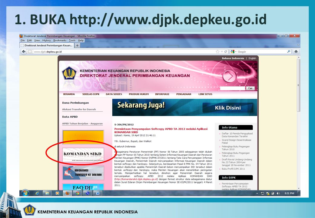 1. BUKA http://www.djpk.depkeu.go.id