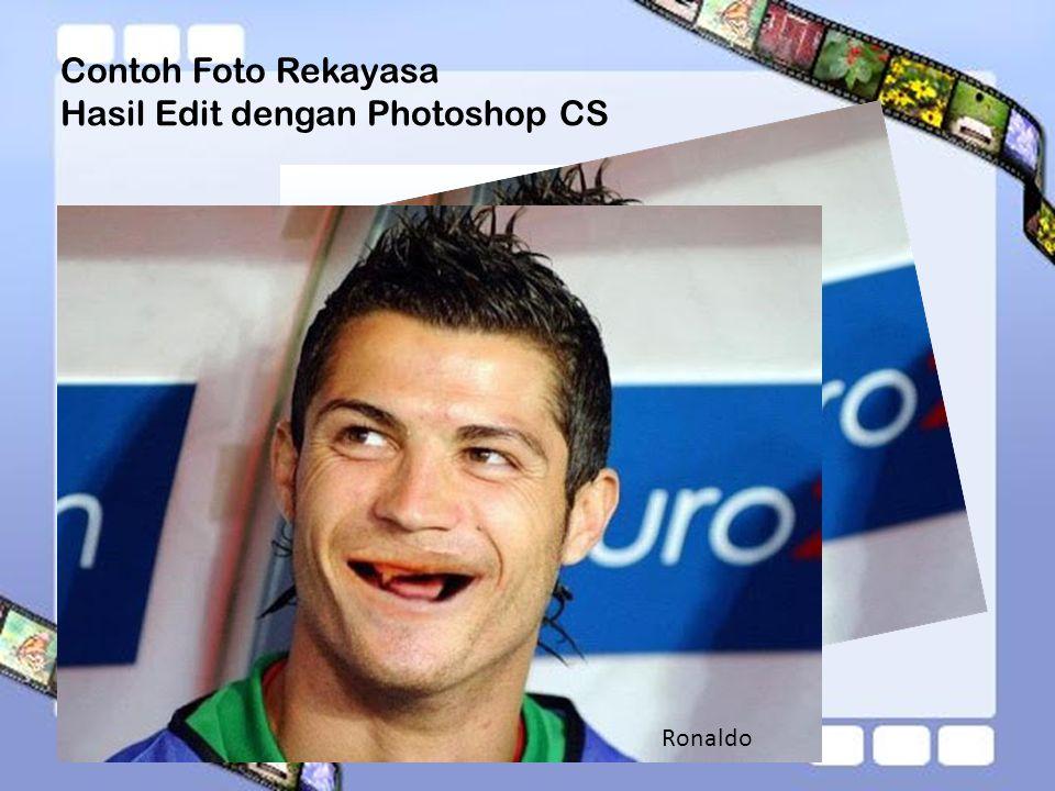 Contoh Foto Rekayasa Hasil Edit dengan Photoshop CS Ronaldo
