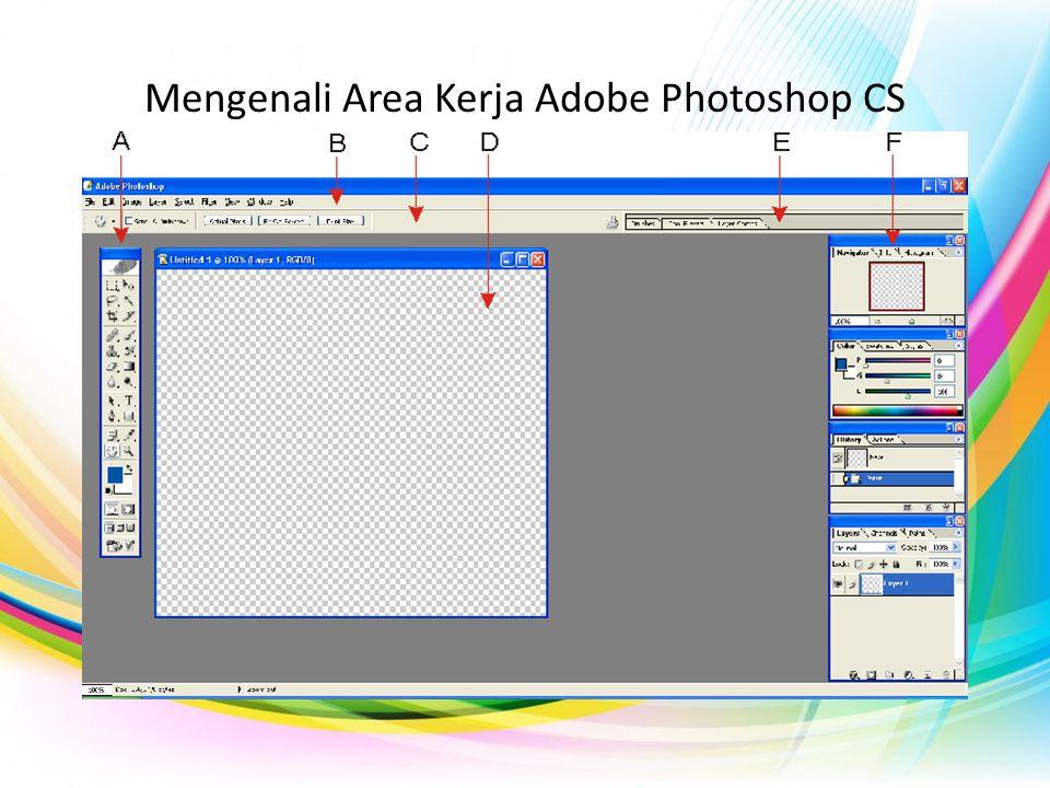 Keterangan Gambar Mengenali Area Kerja Adobe Photoshop CS A Gbr A.