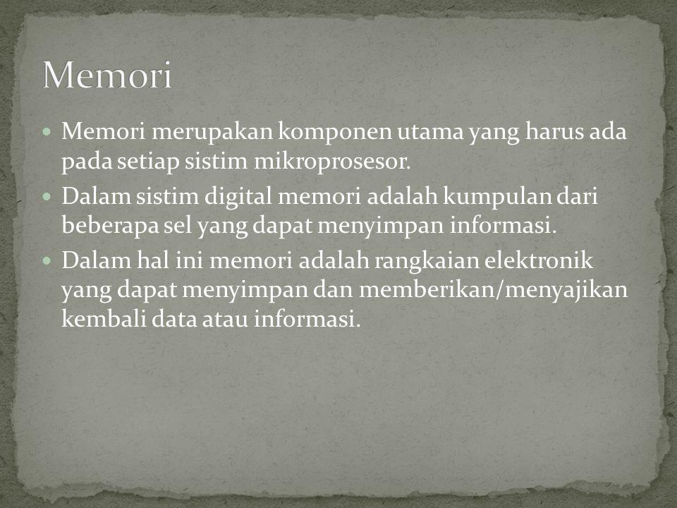 Ditinjau dari sistim akses ada dua jenis memori yaitu : 1.