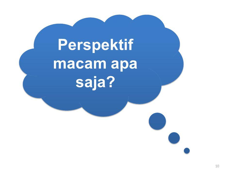Perspektif macam apa saja? 10