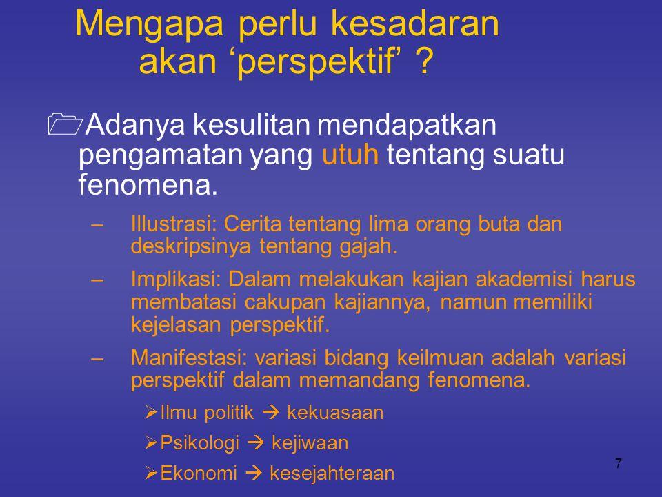 INPUT PROSES PENTUAN OUTPUTOUTCOME 1 2 3 4 5 6 7 8  Tidak ada tradisi serius dalam melakukan evaluasi terhadap janji- janji pejabat.