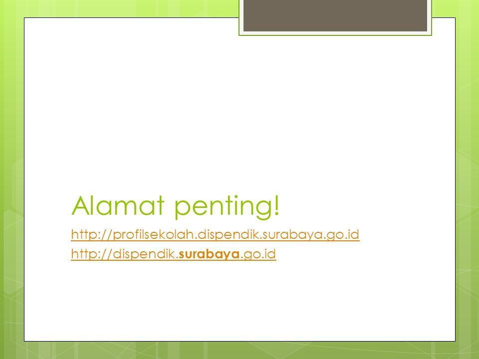 Alamat penting! http://profilsekolah.dispendik.surabaya.go.id http://dispendik. surabaya.go.id