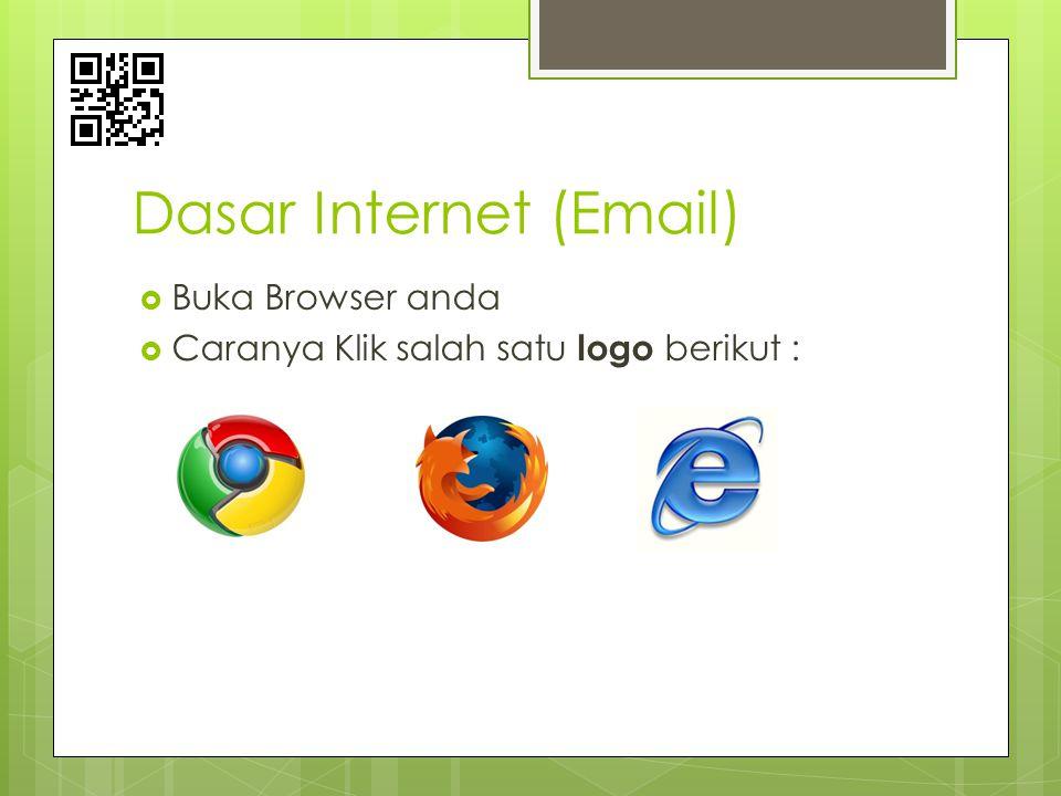 Dasar Internet (Email)  Buka Browser anda  Caranya Klik salah satu logo berikut :