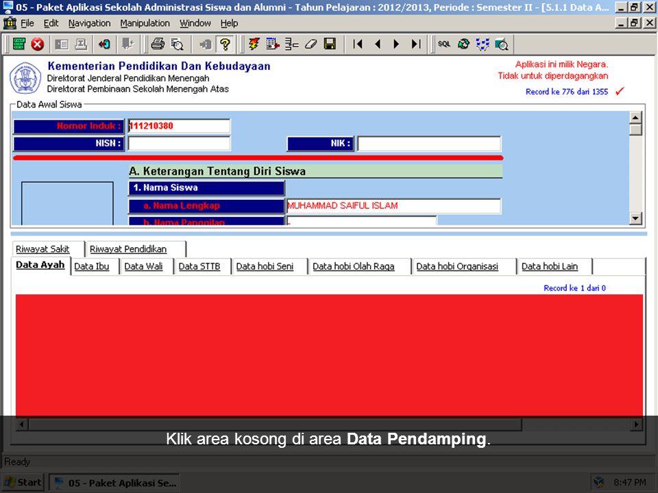 Sekarang, kita akan mulai melengkapi Data Pendamping. Kita mulai dengan Data Ayah terlebih dahulu.