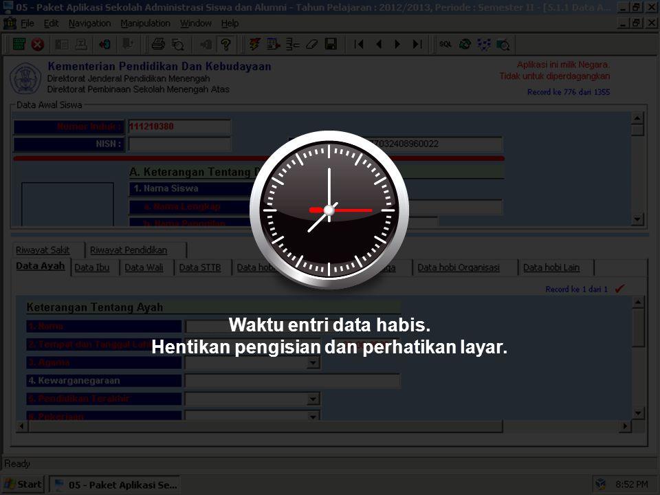 Sekarang, silakan melengkapi Data Ayah, Data Ibu, dan Data Wali.