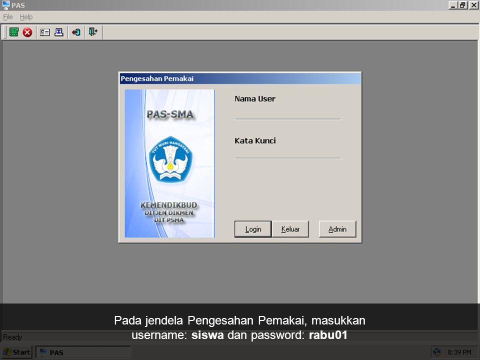 Klik dua kali pada ikon 05 PAS - Administrasi Siswa dan Alumni.