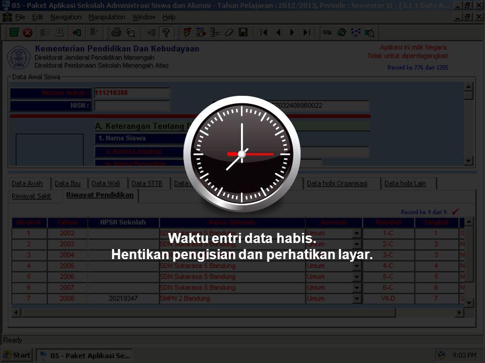 Sekarang, silakan melengkapi Data selanjutnya. Waktu Anda 20 menit.