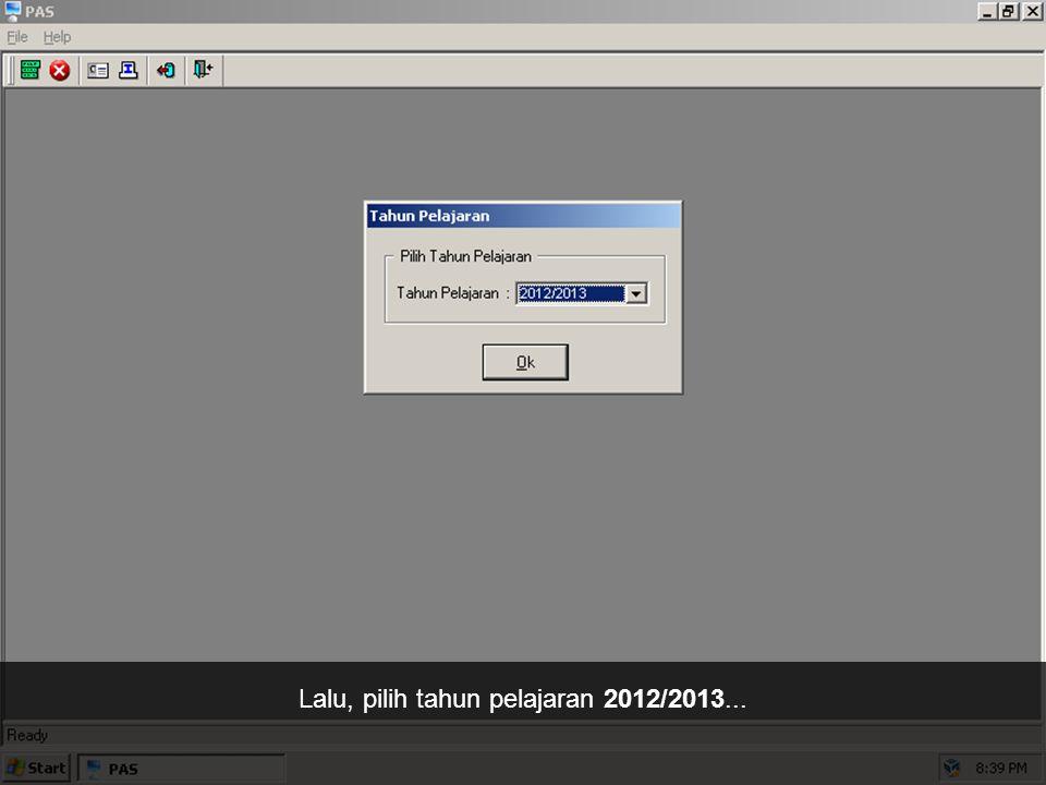 Pada jendela Pengesahan Pemakai, masukkan username: siswa dan password: rabu01