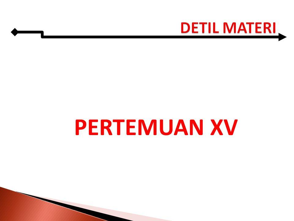 PERTEMUAN XV