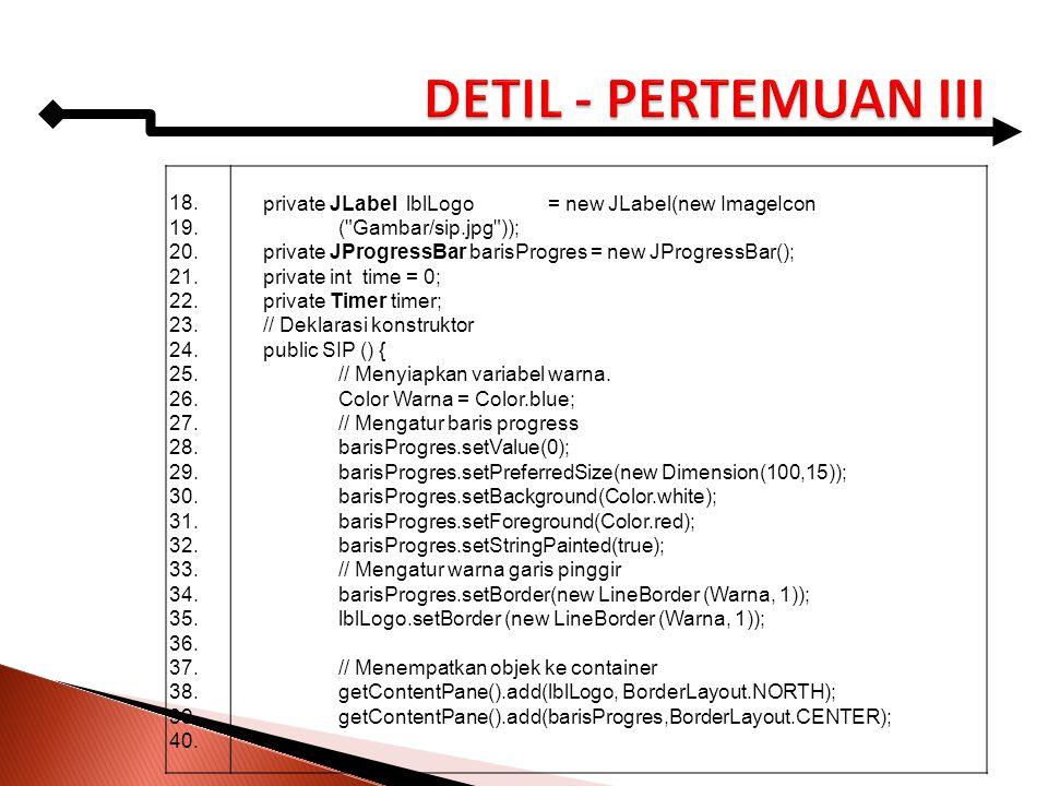 18. 19. 20. 21. 22. 23. 24. 25. 26. 27. 28. 29. 30. 31. 32. 33. 34. 35. 36. 37. 38. 39. 40. private JLabel lblLogo= new JLabel(new ImageIcon (