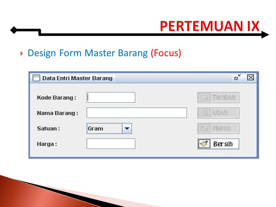  Design Form Master Barang (Focus)