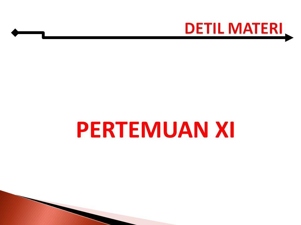 PERTEMUAN XI