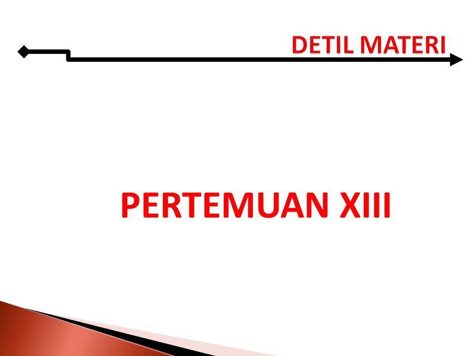 PERTEMUAN XIII